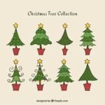 pinitos vectores navidad - Pinitos Navideños con Estrellas en Vectores