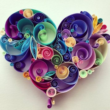 quilling paper corazon - Arte con Papel - Quilling Paper
