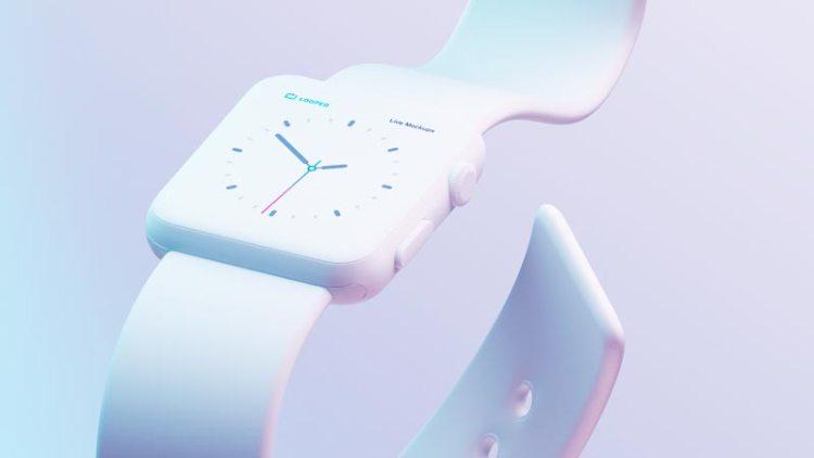 reloj mockup blanco - Fantásticos Mockups de distintos dispositivos en color blanco mate