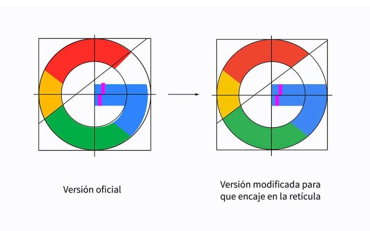 reticula logo google - Google diseñó mal su propio logo!