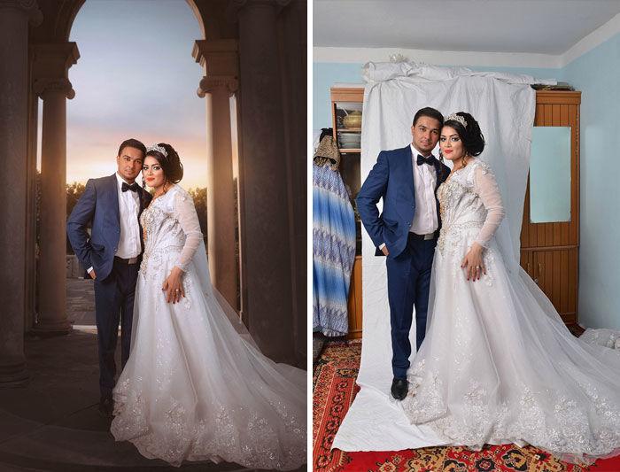 retoques casamiento photoshop - Gracioso backstage de esas fotos que lucen tan bonitas en Instagram