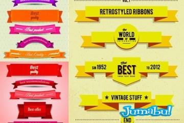 ribbons vectoriales cintas vectores - Ribbons en Vectores de Moderno Estilo