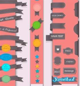 ribbons vectorizados - Ribbons, Forraditas, Cintas Vectoriales Vintage
