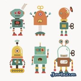 robots ilustracion vectorial - Robots en Vectores