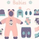 ropa de bebe vectores - Ropa de Invierno para niños en Vectores
