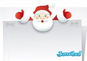 santa invitacion navidad tarjeta gratis - Tarjeta de Navidad con Papá Noel en Vectores