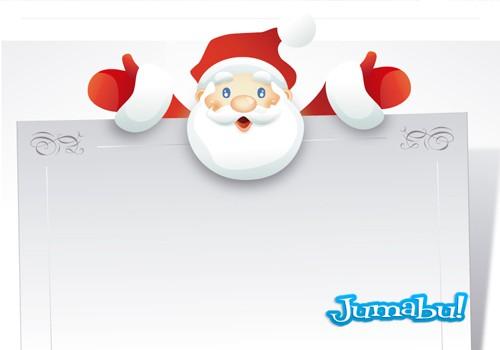 Tarjeta de Navidad con Papá Noel en Vectores