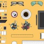 set vectores planos - Descarga Set de Elementos de Diseño en Vectores Planos