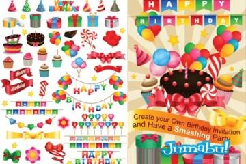 tarjeta invitacion de cumpleanos vectorizadas - Recursos para Crear una Invitación de Cumpleaños en Vectores
