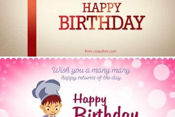 tarjetas cumple feliz psd - Como Diseñar una Tarjeta de Cumpleaños en Photoshop