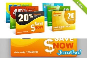 tarjetas de descuentos en psd - Tarjetas de Descuentos o Gift Cards en PSD