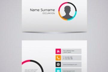 tarjetas personales estilo metro - Tarjetas de Presentación Personal con Estilo Metro en Vectores