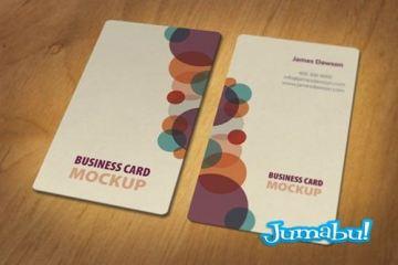 tarjetas personales mockup - Mock Up de tarjetas Personales o Tarjetas de Presentación con Formas Originales