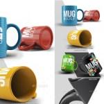 tazas mock up 3d realistas - Template de Tazas de Café para Colorear con Photoshop