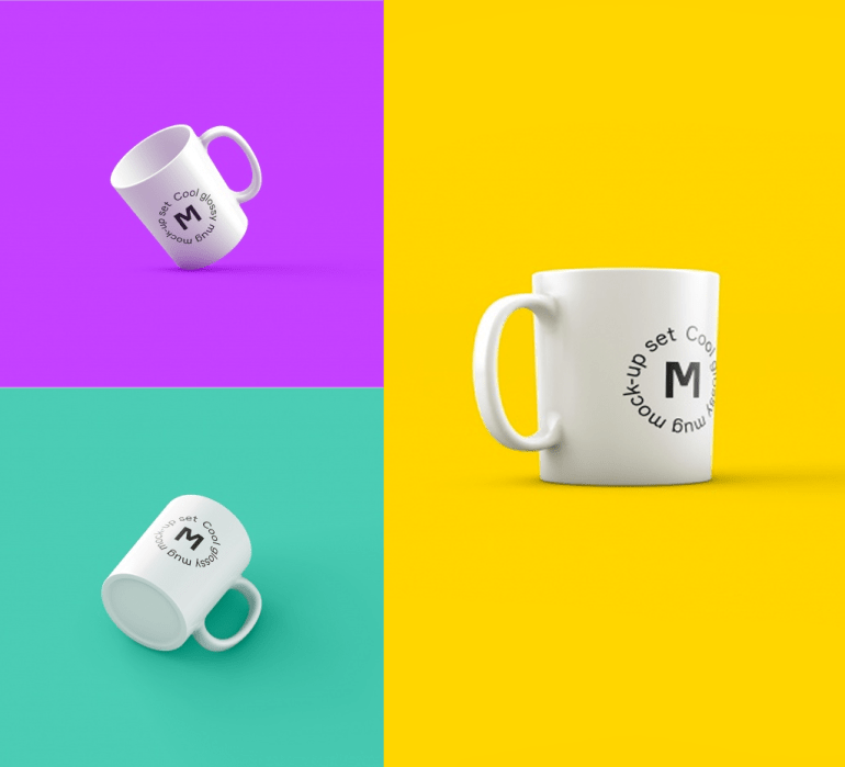tazas mockup photoshop - Tazas de café para poner tu logo con photoshop