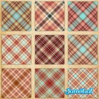 Patterns para Photoshop y Texturas en PNG de Telas Escocesas