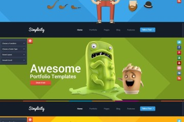theme wordpress flat style - Template Wordpress con Estilo Flat Design