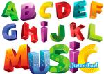 tipografias coloridas letras colores vectores - Tipografías Coloridas en Vectores