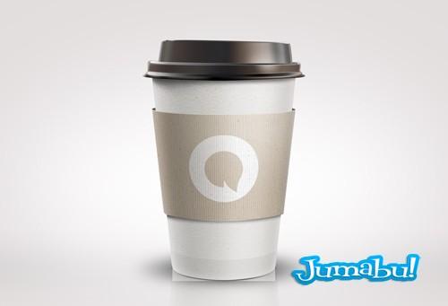 vaso t u00e9rmico de caf u00e9 en psd