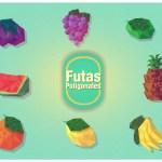 vectores frutas poligonos - Frutas en Vectores Poligonales para Descargar
