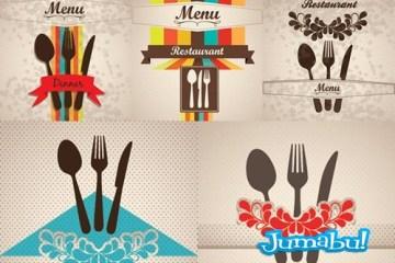 vectores metro restarurante - Cubiertos en Vectores para la Gráfica de un Restaurant