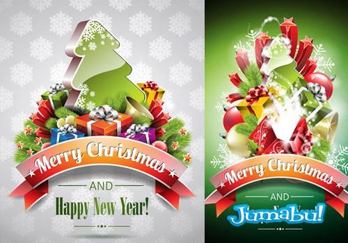 vectores navidenos 2014 - Regalos, Pinos, Estrellas y más Recursos Navideños en Vectores