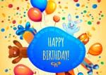 vectores para feliz cumpleanos - Globos y Regalos de Cumpleaños en Vectores