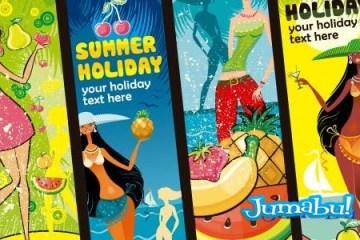 mujeres-caribe-vectores-frutas-mar-pareo-verano
