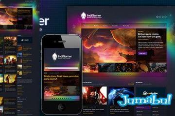 website colorido - Website Template en HTML