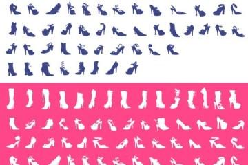 zapatos mujer en vectores - Siluetas de Tacones o Zapatos de Mujer en Vectores