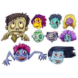 zombie vectores gratis - Zombies en Vectores para Halloween