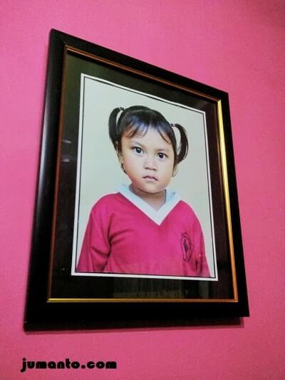 Foto Alya lulus Paud, mau masuk TK Bhakti Kesuma sukabanjar