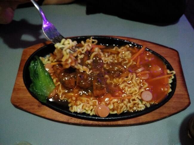 menu makan malam di lampung walk