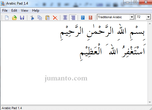 panduan menulis arab di laptop pakai arabic pad