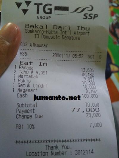harga makanan di terminal 3 bandara soekarno hatta