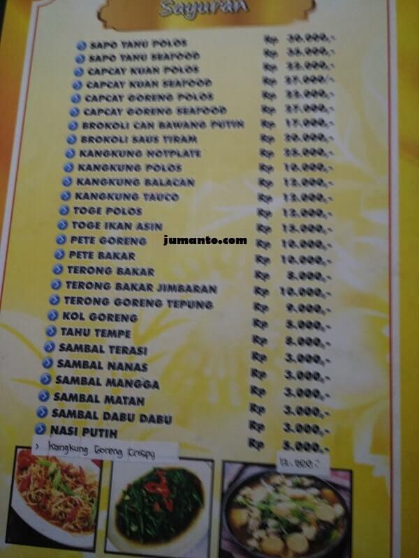 daftar menu harga ikan bakar gembul