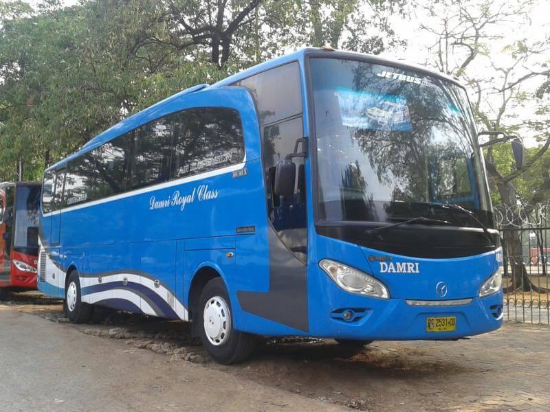 foto bus damri jakarta lampung beserta jadwal, daftar harga dan lama perjalanan