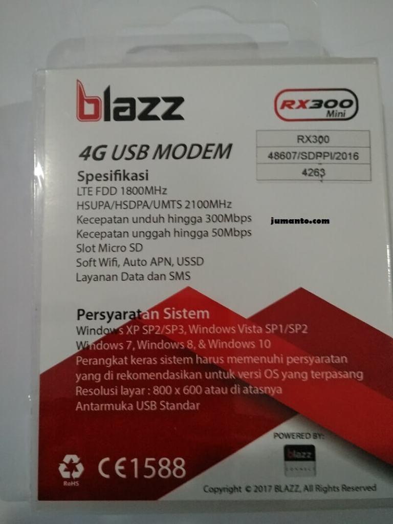 spesifikasi modem blazz rx 300 mini