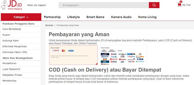 daftar toko online yang bisa bayar di tempat