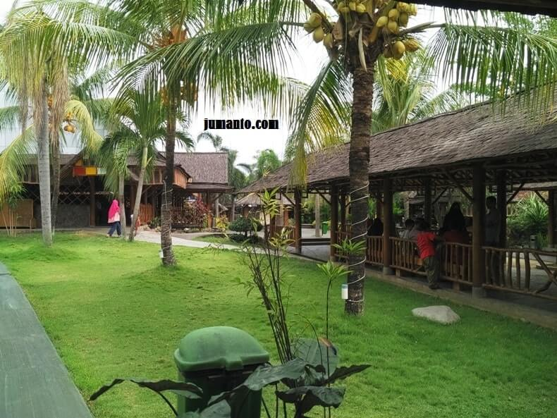 foto pemandangan saung desa lampung
