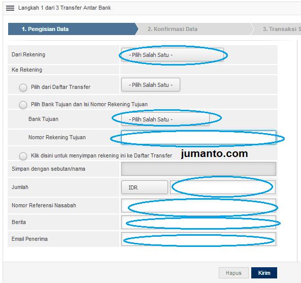 cara kirim uang via internet banking bri ke bank lain