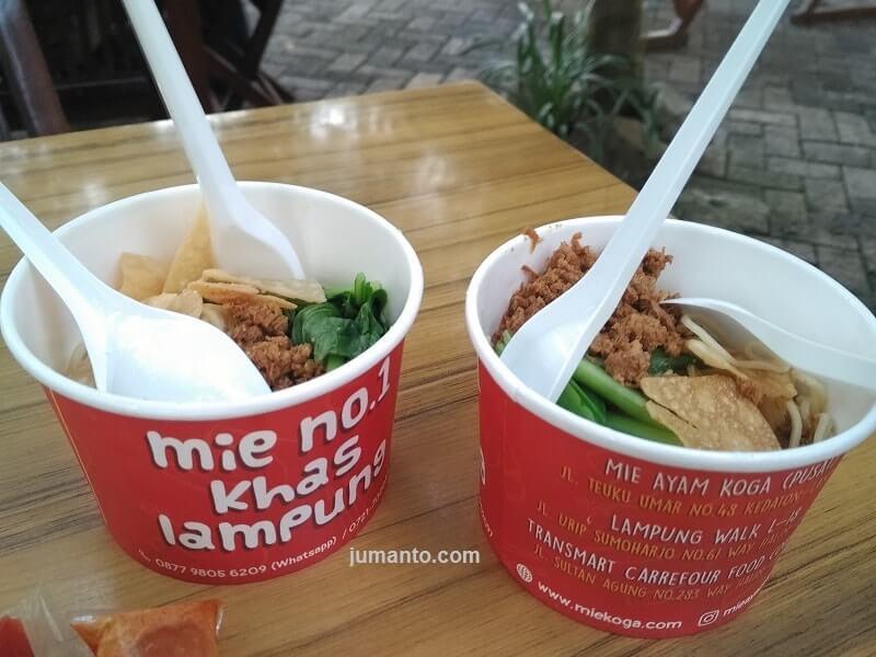 Kuliner Mie Ayam Koga Lampung Yang Enak, Harga Dan Menu Cek Di Sini