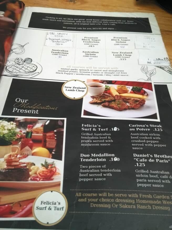 daftar menu dan harga lieps cafe