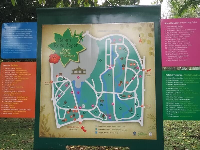 Denah Pintu Masuk Kebun Raya Bogor