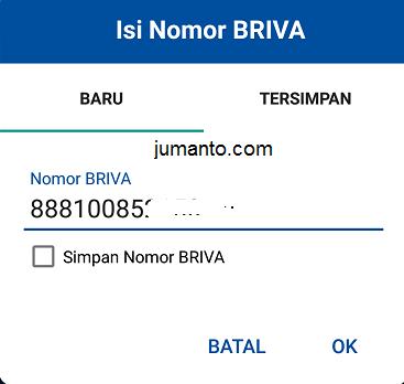 masukkan kode briva