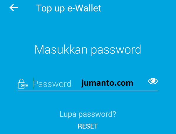masukkan password jenius untuk selesaikan transaksi