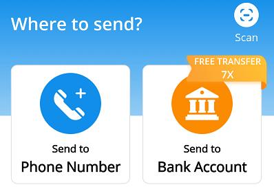 send to bank untuk transfer dari dana ke rekening bank