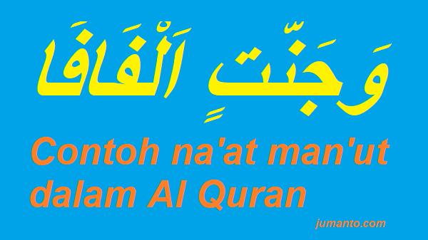 kumpulan contoh na'at dan man'ut dalam al quran berikut surat dan artinya