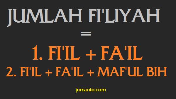 susunan jumlah fi'liyah dalam bahasa arab