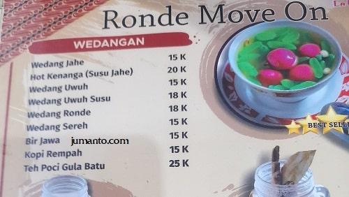 daftar harga dan menu larise cafe lampung 8